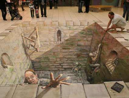 Impressionante desenho de rua